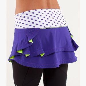 Lululemon Presta Polka Dot Skirt Purple Green, 6
